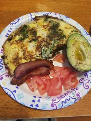 mine (omelet: kale, onions, peppers, sun dried tomatoes)